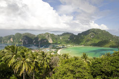 Landscape sea and sky of Phi Phi island Royalty Free Stock Photography