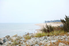 Landscape with sea Poland Royalty Free Stock Photos