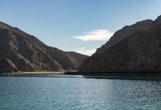 Landscape Sea View of Island Mountains. Red Sea, Taba, Sinai, Egypt stock photography