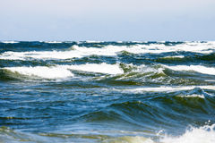 Landscape on sea waves Royalty Free Stock Photos