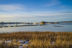 Landscape by the sea in the winter Stock Photos