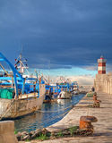 Landscape seaport. Monopoli. Apulia. Stock Images