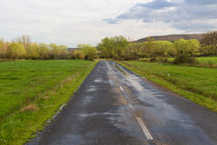 Landscape with Secondary Road Royalty Free Stock Photography