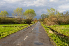 Landscape with Secondary Road Royalty Free Stock Photo