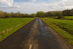 Landscape with Secondary Road Stock Photography
