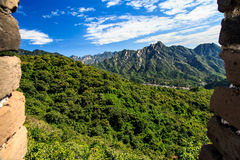 Landscape seen from the great wall Royalty Free Stock Photo