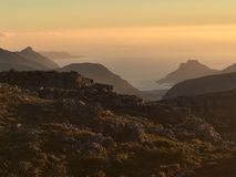 View from the top of Table mountain Cape Town, South Africa. royalty free stock photography