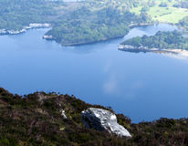 Landscape seen from the Troc Mountain in Ring of Kerry, Ireland in spring Royalty Free Stock Image