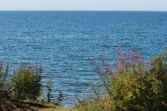Water landskap på laken Arkivfoton