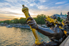 Landscape of the Seine River Royalty Free Stock Photography