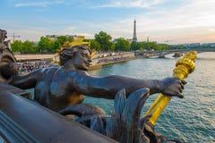 Landscape of the Seine River Stock Image