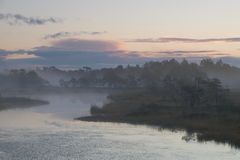 Landscape of Seli Bog. Dawn royalty free stock photography