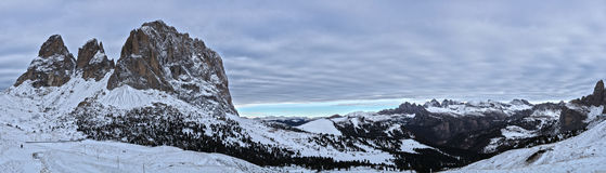Landscape from Sella Pass, Dolomiti Stock Image