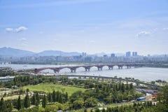 Landscape of seoul city Stock Image