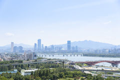 Landscape of seoul city Royalty Free Stock Photography