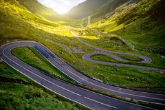 Landscape with serpantine road Stock Photography