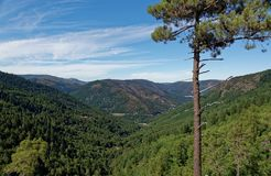 Serra da Estrela. Landscape of Serra da Estrela Star Mountain Range that is the highest mountain range in Continental Portugal Stock Photo