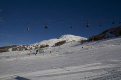 Landscape of Sestriere in winter Royalty Free Stock Photo