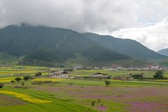 Landscape of Shangri-La tibetan Stock Photos