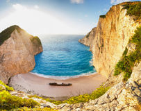Landscape of shipwreck beach Stock Photo