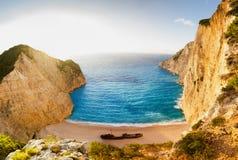 Landscape of shipwreck beach Stock Photography