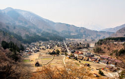 Landscape of Shirakawa-go village, Japan 1 Royalty Free Stock Images