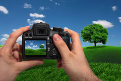 Landscape shooting Royalty Free Stock Photos