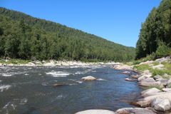 Landscape. Shoria kinds of mountain rivers and mountains Stock Image
