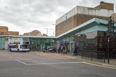 October 2017, Southend On Sea, Essex, A view of the town`s bus station Royalty Free Stock Image