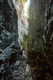 Cave in the limestone mountains. Landscape shot with a cave in the limestone mountains Royalty Free Stock Image