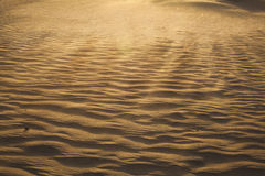 Landscape shot of the desert and the wind pattern on the sand, full frame Royalty Free Stock Photos