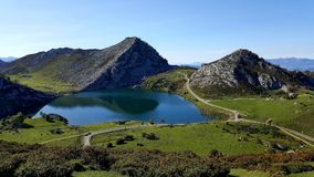 Lakes and Mountains of Covadonga royalty free stock image