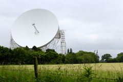A Landscape Shot of the Lovell Telescope at Jodrell Bank. Near Holmes Chapel, Cheshire on a cloudy day. The third largest steerable telescope in the world Stock Photos