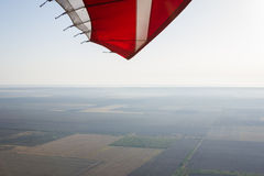 Landscape shot with a paraglider Royalty Free Stock Images