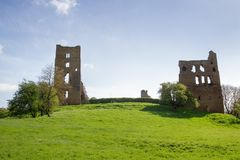 Sheriff Hutton Castle. Landscape shot Sheriff Hutton Castle, in the village of Sheriff Hutton, North Yorkshire York Royalty Free Stock Images