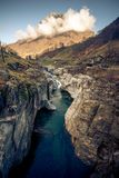A landscape shot with a small stream in ticino italy. This image features a landscape shot with a small stream in ticino italy stock photo