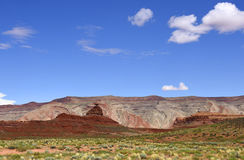 Landscape showing Mexican Hat Rock Stock Image