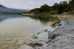 Lake after rain. Landscape from Shumen Lake after rain stock images