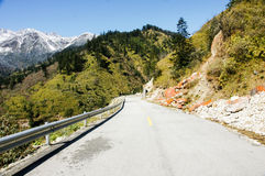 Landscape of Sichuan National Highway in China Royalty Free Stock Photo