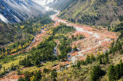 Landscape of Sichuan National Highway in China Stock Photography