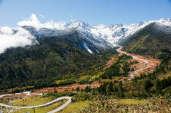Landscape of Sichuan National Highway in China Stock Photos