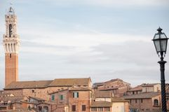 Landscape of siena with tower of Mangia Royalty Free Stock Photos