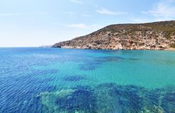 Landscape of Sifnos island Cyclades Greece stock image