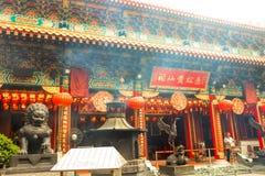Landscape of Sik Sik Yuen Wong Tai Sin Temple in Hong Kong. Hong Kong - May 20, 2017, Editorail use only; Landscape of Sik Sik Yuen Wong Tai Sin Temple in Hong stock images