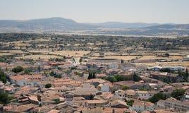 Landscape sikten från slottet av Trujillo Spanien Royaltyfri Foto