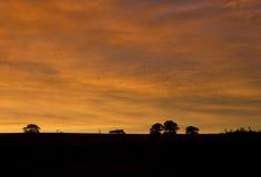 Landscape silhouette Stock Photo