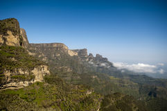 Landscape in the simien national park, ethiopia Royalty Free Stock Photos