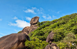 Landscape, Similan Islands. Rocks against the sea and sky Royalty Free Stock Photo