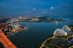 Landscape of Singapore city Stock Photography