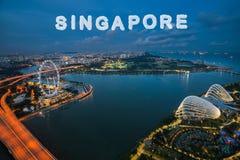 Landscape of Singapore city Royalty Free Stock Photography
